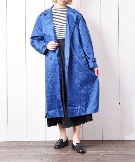 古着ナイロントレンチコート ブルー 古着のネット通販 古着屋グレープフルーツムーン