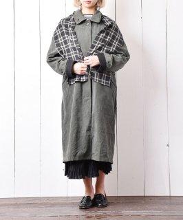 古着マフラー付き ステンカラートレンチコート 古着のネット通販 古着屋グレープフルーツムーン