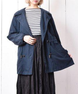 古着ドローコード フードジャケット ダークグリーン   古着のネット通販 古着屋グレープフルーツムーン