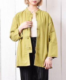 古着【3色展開】「Meridian」 マンダリンカラーシャツ グリーン 古着のネット通販 古着屋グレープフルーツムーン