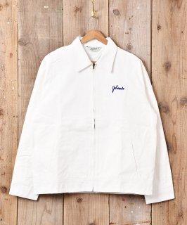 古着「BACKERS」バックカクテル刺繍 ワークジャケット 古着のネット通販 古着屋グレープフルーツムーン