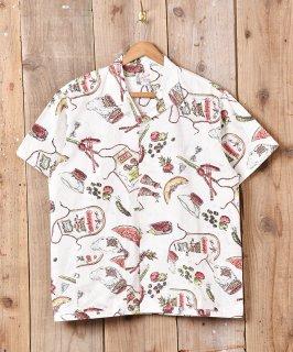 古着「BACKERS」 BBQビックプリント 半袖シャツ 古着のネット通販 古着屋グレープフルーツムーン