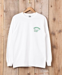 古着【2色展開】ハンド アーチリボン グラフィックプリント ロングスリーブTシャツ ホワイト 古着のネット通販 古着屋グレープフルーツムーン