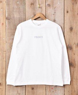 古着【2色展開】「Backers」MINORITYプリント ロングスリーブ Tシャツ ホワイト 古着のネット通販 古着屋グレープフルーツムーン