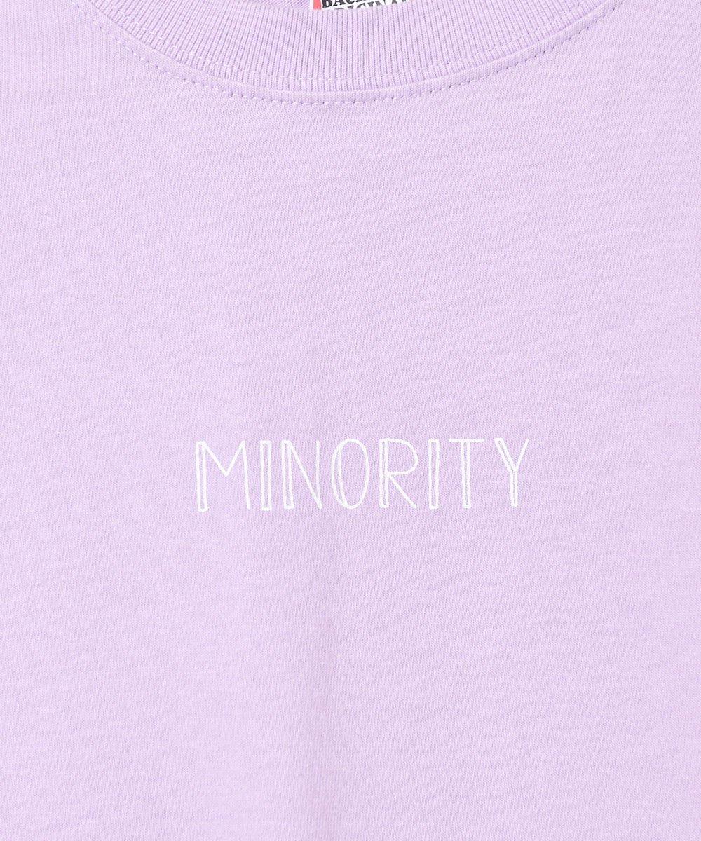 【2色展開】「Backers」MINORITYプリント ロングスリーブ Tシャツ パープルサムネイル