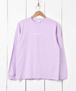 古着【2色展開】「Backers」MINORITYプリント ロングスリーブ Tシャツ パープル 古着のネット通販 古着屋グレープフルーツムーン