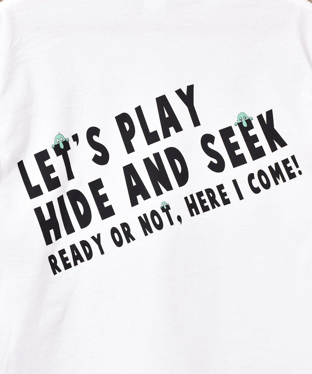 【2色展開】「BACKERS」Hede&Seek グラフィックプリント ロングスリーブTシャツ ホワイトサムネイル