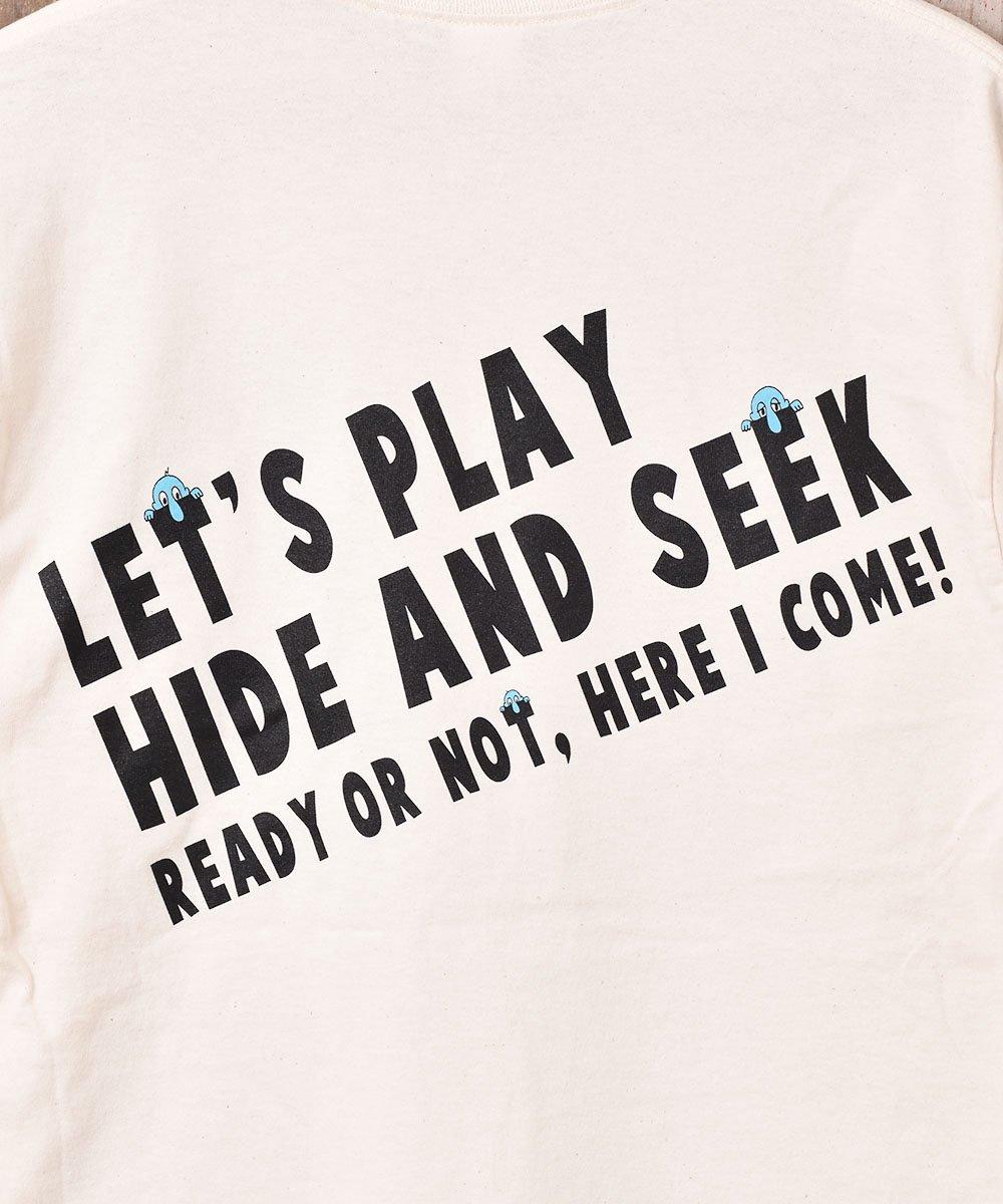 【2色展開】「BACKERS」Hede&Seek グラフィックプリント ロングスリーブTシャツ ベージュサムネイル