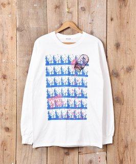 古着【2色展開】「BACKERS」マリリンモンロー グラフィックプリント ロングスリーブTシャツ ホワイト  古着のネット通販 古着屋グレープフルーツムーン