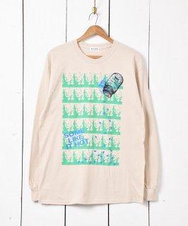 古着【2色展開】「BACKERS」マリリンモンロー グラフィックプリント ロングスリーブTシャツ ベージュ 古着のネット通販 古着屋グレープフルーツムーン
