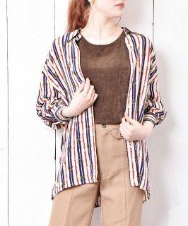 古着ベルト柄 シルクシャツ 古着のネット通販 古着屋グレープフルーツムーン