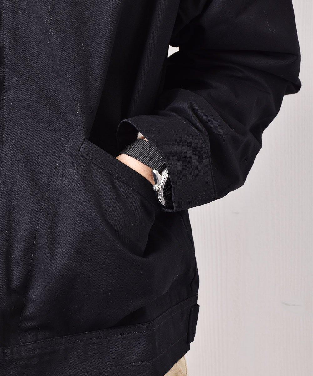 【2色展開】「Backers」コーヒー&ドーナッツ チェーンステッチ ワークジャケット ブラックサムネイル