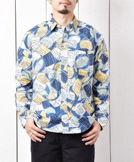 古着「Backers」パブ サイン ロングスリーブシャツ ブルー 古着のネット通販 古着屋グレープフルーツムーン