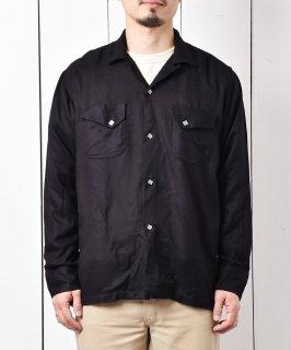 古着「LOSFELIZ」レーヨン ウェスタンシャツ ブラック 古着のネット通販 古着屋グレープフルーツムーン