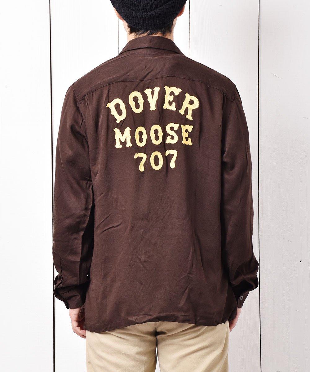 古着 【2色展開】「Backers」ドーバー ムース 707 チェーンステッチ オープンカラーシャツ ブラウン 古着 ネット 通販 古着屋グレープフルーツムーン