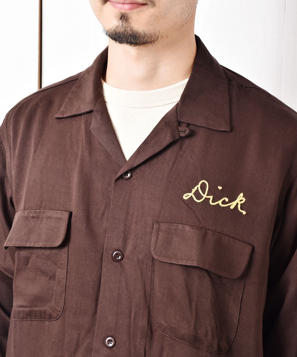 【2色展開】「Backers」ドーバー ムース 707 チェーンステッチ オープンカラーシャツ ブラウンサムネイル