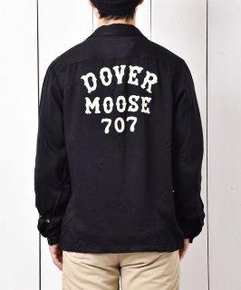 古着【2色展開】「Backers」ドーバー ムース 707 チェーンステッチ オープンカラーシャツ ブラック 古着のネット通販 古着屋グレープフルーツムーン