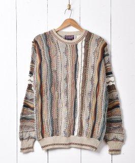 古着ブルガリア製 3Dデザイン セーター 古着のネット通販 古着屋グレープフルーツムーン