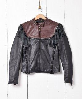 古着「Harley Davidson」 フリンジ レザージャケット 古着のネット通販 古着屋グレープフルーツムーン