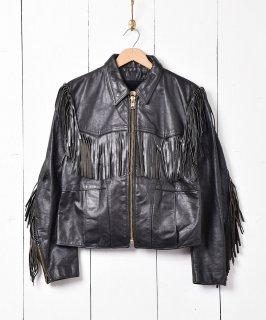古着80's アメリカ製 フリンジレザージャケット 古着のネット通販 古着屋グレープフルーツムーン