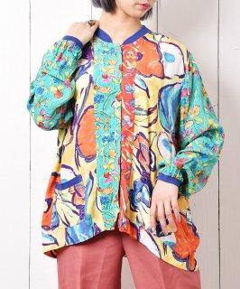 古着アメリカ製 総柄ロングスリーブシャツ 古着のネット通販 古着屋グレープフルーツムーン