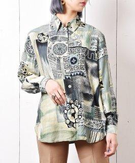 古着総柄 ロングスリーブシャツ 古着のネット通販 古着屋グレープフルーツムーン