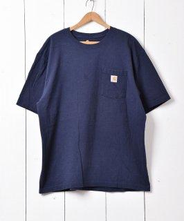 """古着""""Carhartt""""ポケットTシャツ ネイビー XL 古着のネット通販 古着屋グレープフルーツムーン"""