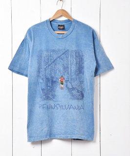 古着アメリカ製 Pennsylvania 刺繍×プリントTシャツ 古着のネット通販 古着屋グレープフルーツムーン