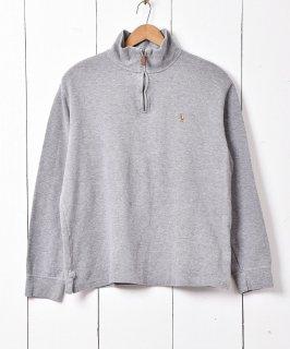 古着「POLO RALPH LAUREN」ハーフジップ セーター グレー 古着のネット通販 古着屋グレープフルーツムーン