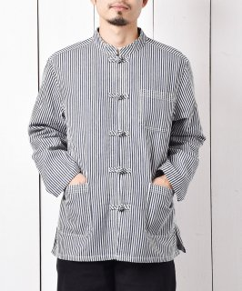 古着「Temptation」ヒッコリー チャイナシャツ 古着のネット通販 古着屋グレープフルーツムーン