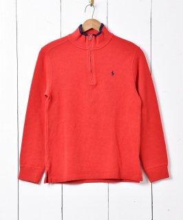 古着「Ralph Lauren」ハーフジップ コットンニット セーター 古着のネット通販 古着屋グレープフルーツムーン