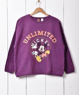 古着ミッキーマウスプリント ラウンド グラフィック プリントスウェットシャツ 古着のネット通販 古着屋グレープフルーツムーン