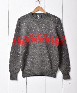 古着アメリカ製 ノルディックセーター グレー 古着のネット通販 古着屋グレープフルーツムーン