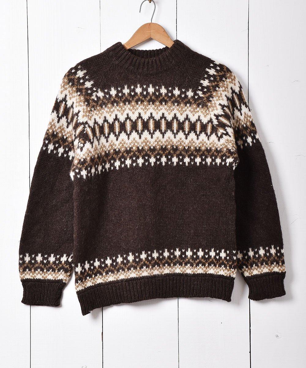 古着 デンマーク製 ノルディックセーター ブラウン 古着 ネット 通販 古着屋グレープフルーツムーン