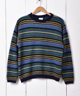 古着マルチカラー ボーダー セーター 古着のネット通販 古着屋グレープフルーツムーン