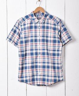 古着「patagonia」半袖 チェックシャツ 古着のネット通販 古着屋グレープフルーツムーン