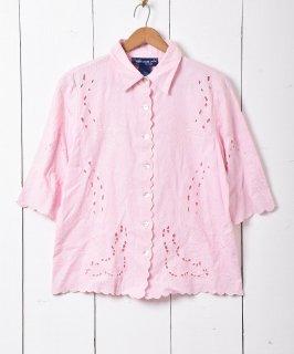 古着カットワーク リネンシャツ 古着のネット通販 古着屋グレープフルーツムーン