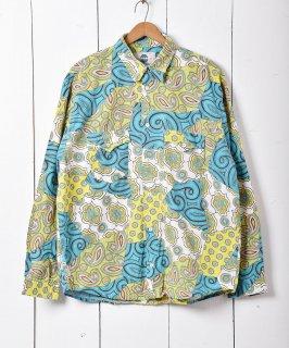 古着マルチパターン 長袖シャツ  古着のネット通販 古着屋グレープフルーツムーン