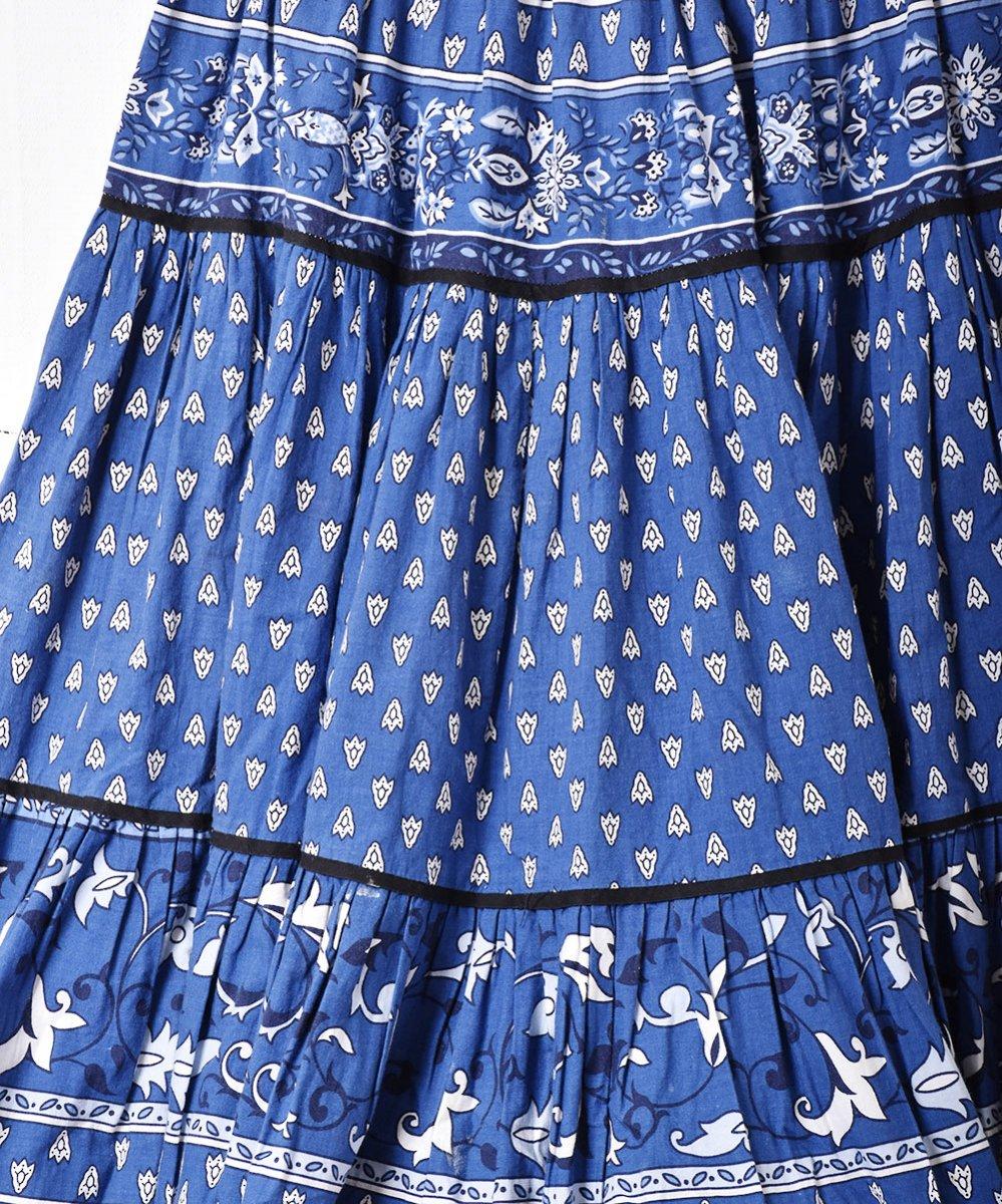 フランス製 プロヴァンススカート ブルーサムネイル