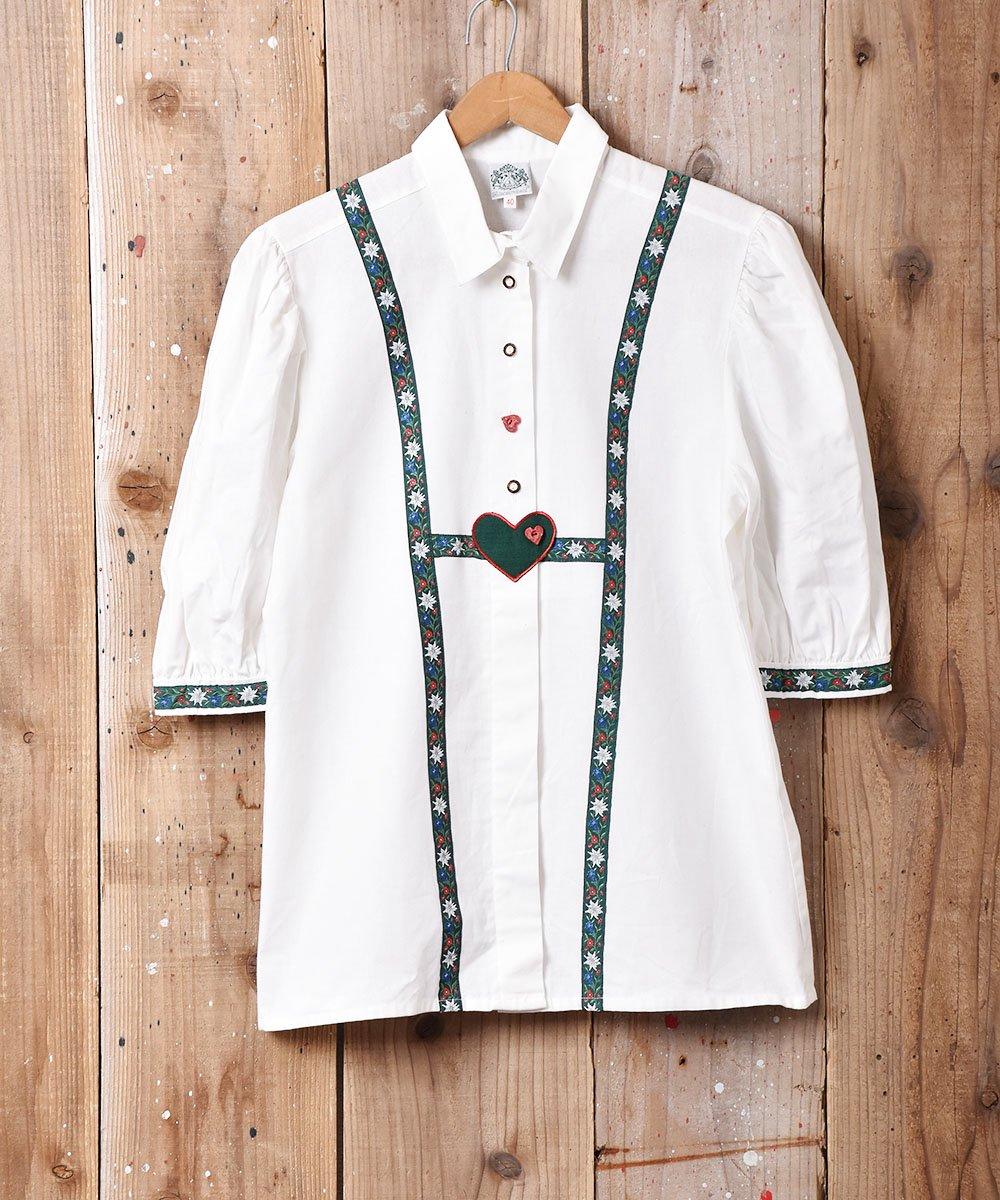 古着 ヨーロッパ製 半袖 チロルシャツ 古着 ネット 通販 古着屋グレープフルーツムーン