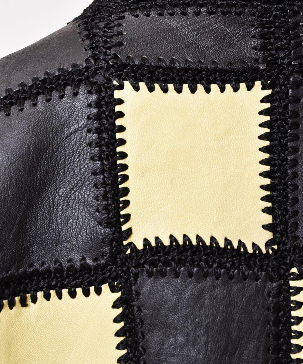レザーパッチワークジャケットサムネイル