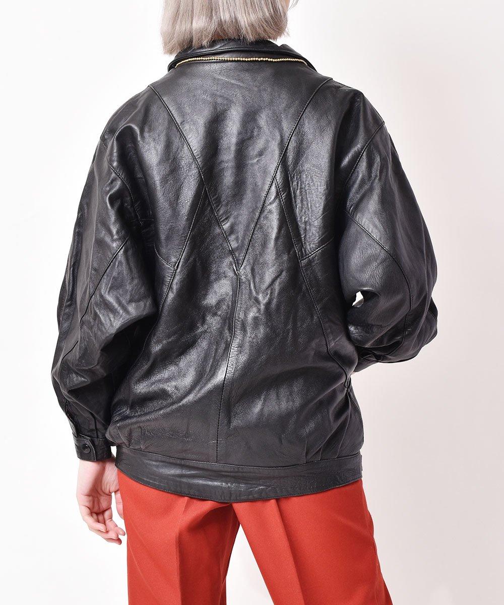 レザー 切り替えジャケットサムネイル