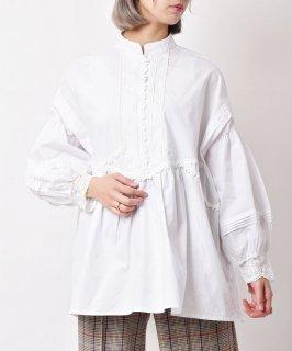 古着「meridian」 ボリュームスリーブ ブラウス ホワイト 古着のネット通販 古着屋グレープフルーツムーン