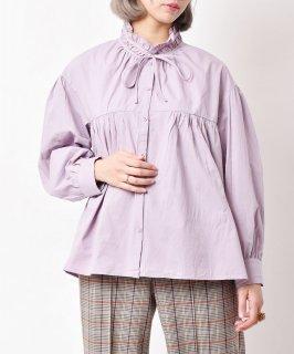 古着「Elcamino」 フリルカラ— ブラウス パープル 古着のネット通販 古着屋グレープフルーツムーン