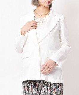 古着【2色展開】「meridian」 コットンテーラードジャケット ホワイト 古着のネット通販 古着屋グレープフルーツムーン
