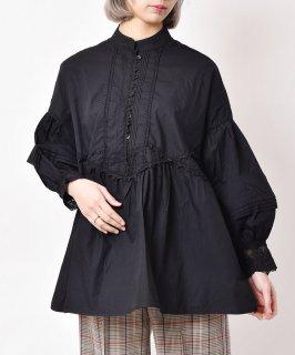 古着「meridian」 ボリュームスリーブ ブラウス ブラック 古着のネット通販 古着屋グレープフルーツムーン