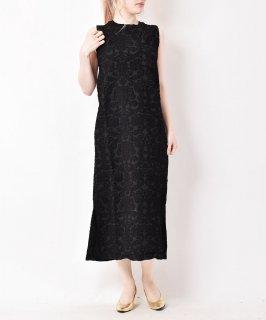 古着【3色展開】「meridian」ジャカード織り ノースリーブワンピース ブラック 古着のネット通販 古着屋グレープフルーツムーン