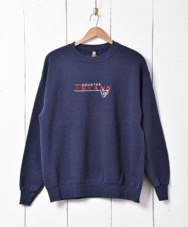 古着「HOUSTON TEXANS」刺繍スウェット 古着のネット通販 古着屋グレープフルーツムーン