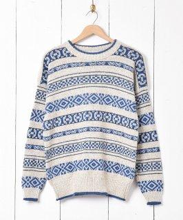 古着アメリカ製 「Liz wear」 コットンニットセーター 古着のネット通販 古着屋グレープフルーツムーン