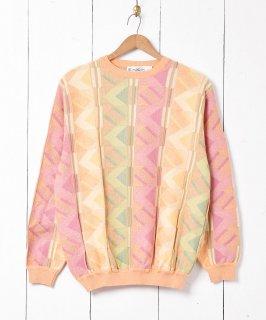 古着アメリカ製 コットンニット セーター 古着のネット通販 古着屋グレープフルーツムーン
